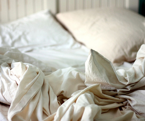 bed, photography, and white image