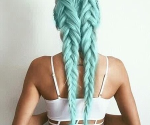 blue, hair, and braids image