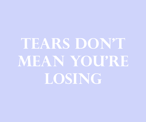 quote, tears, and love image