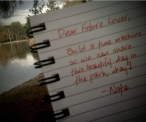 future, Letter, and lake image