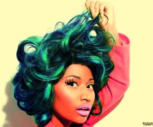 beautiful, blue hair, and nicki minaj image
