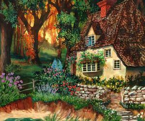 bay, chimney, and cottage image