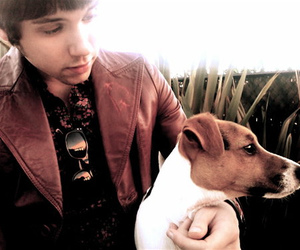 ryan ross, dog, and panic! at the disco image