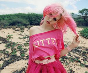 girl, pink, and pink hair image