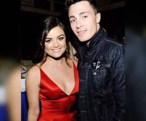 fashion, red, and lucy hale image