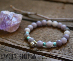 crystal jewelry, crystals, and etsy image