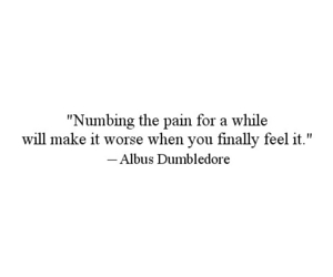 quotes, pain, and harry potter image