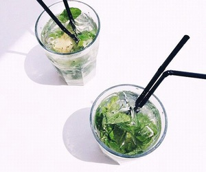 drink, food, and green image