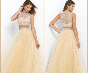 champagne, crystal, and dress image