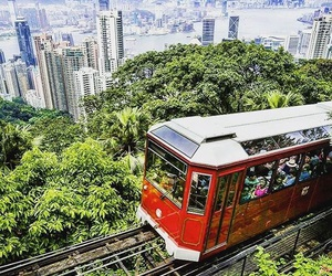 beautiful, cable car, and city image