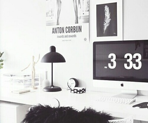 desk, room, and white image