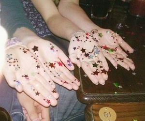 stars, grunge, and hands image