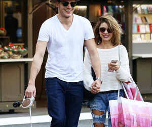 candid, couple, and fashion image