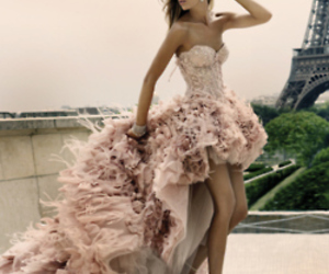 dress, paris, and pink image