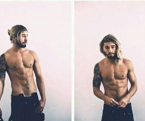 bearded, guys with long hair, and long haired men image