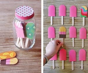 diy, ice cream, and pink image