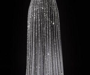 dress, silver, and diamond image