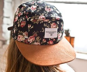 fashion, flowers, and hat image