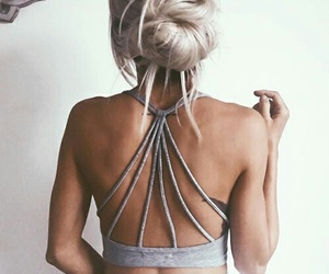 blonde, style, and bun image