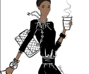 black, coffee, and chanel image