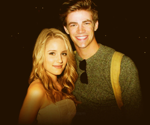 dianna agron, grant gustin, and couple image