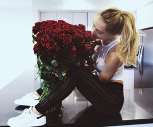 flowers, rose, and alexis ren image