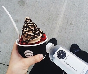 delicious, ice cream, and water image