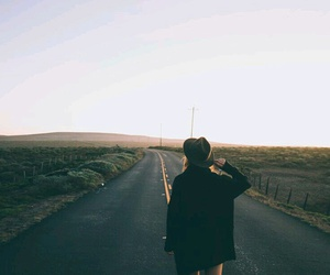 girl, travel, and road image