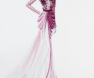 dress, fashion, and drawing image