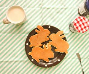 pancakes, food, and rabbit image