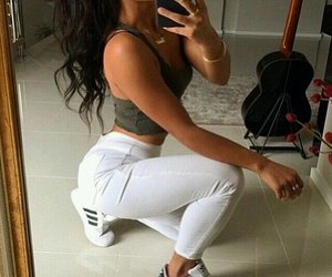 adidas, hair, and style image