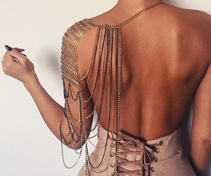 backless, dress, and fashion image