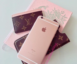iphone, Louis Vuitton, and pink image