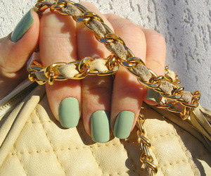 nails, bag, and green image