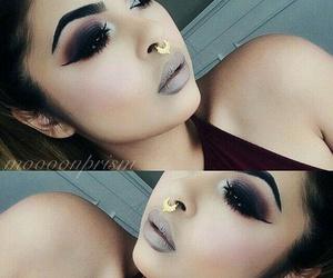 makeup, beauty, and eye shadow image