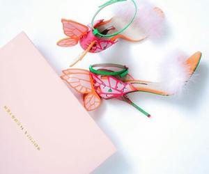 butterflies, heels, and designer image