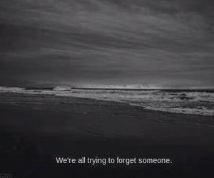 alone, forget, and ocean image