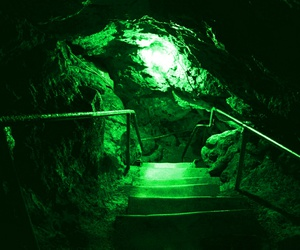 green, glow, and grunge image