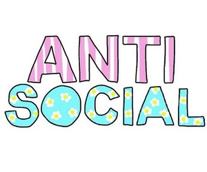 anti, pastel, and word image