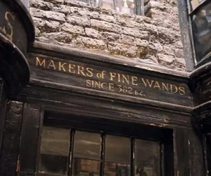 harry potter, wand, and diagon alley image
