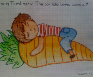 carrots, louis, and louis tomlinson image