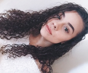 art, curly hair, and eyebrows image