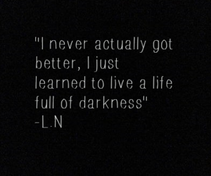 quotes, Darkness, and grunge image