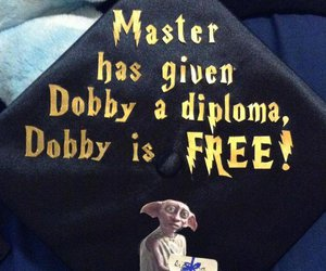 harry potter, dobby, and diploma image