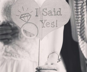 arabic, wedding, and i said yes image