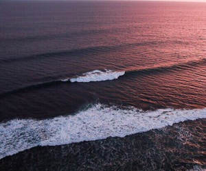 ocean, sea, and sunset image