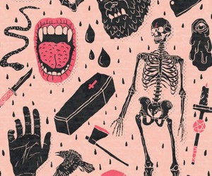 pink, vampire, and wallpaper image