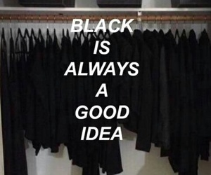 black, ideas, and wallpaper image