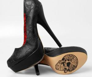 shoes, fashion, and skull image