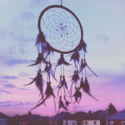 Dream, dreamcatcher, and feathers image